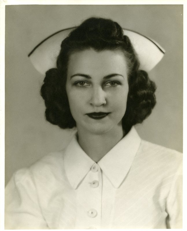 Photograph of Kathleen Lutz in Harris School of Nursing uniform