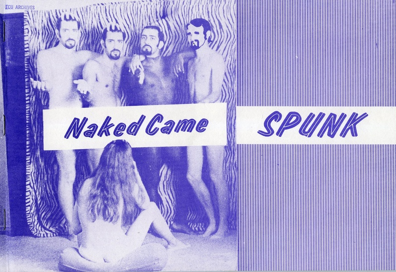 Photograph of Naked Came Spunk cover, front and back