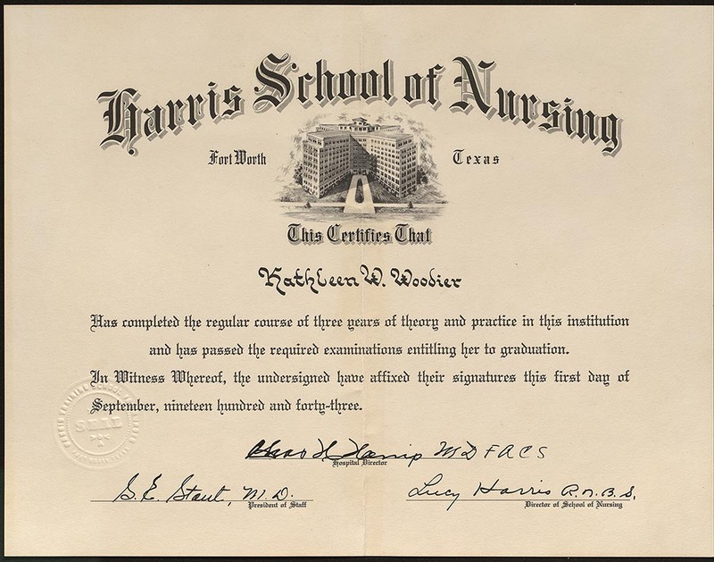 Harris School of Nursing Diploma