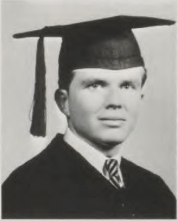 Photograph of James Lane as a senior at T.C.U.