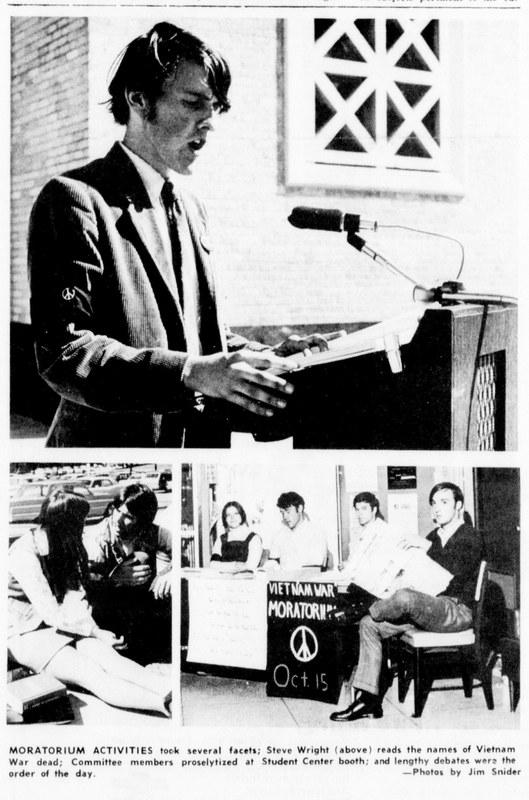 Photographs from Vietnam Moratorium Day at TCU